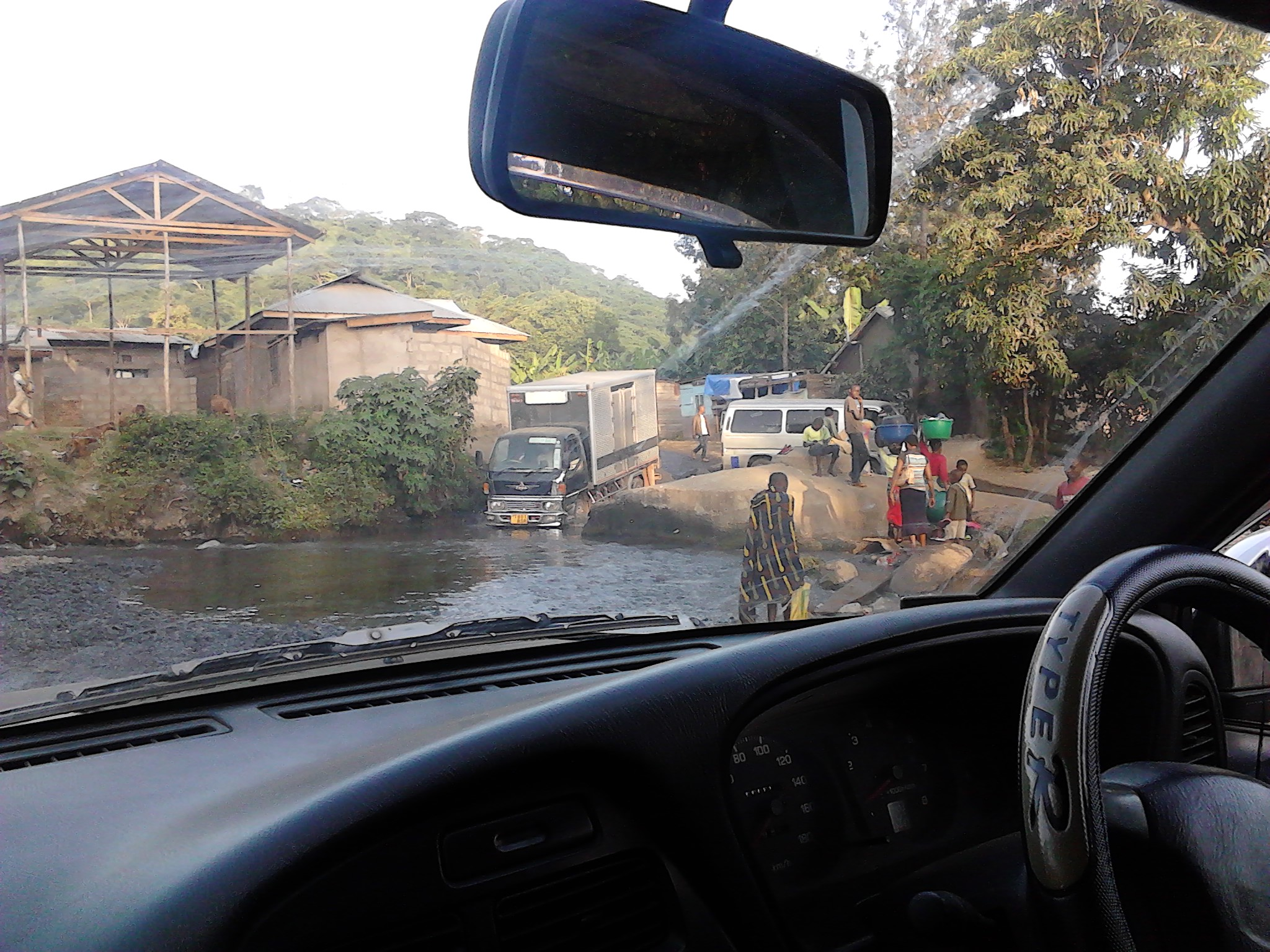 Typical road conditions in Arusha, Tanzania